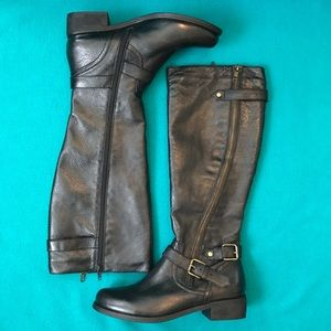 Steve Madden Synicale Tall Leather Boots Sz 10
